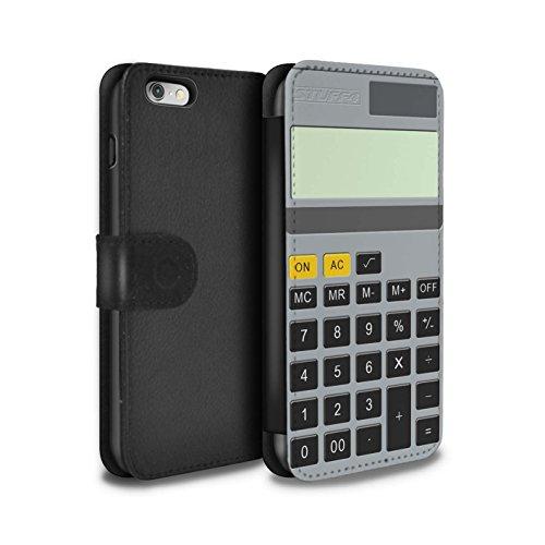 STUFF4 PU-Leder Hülle/Case/Tasche/Cover für Apple iPhone 6 / Klavier/Piano Muster / Schaltfläche/Tasten Kollektion Kalkulator