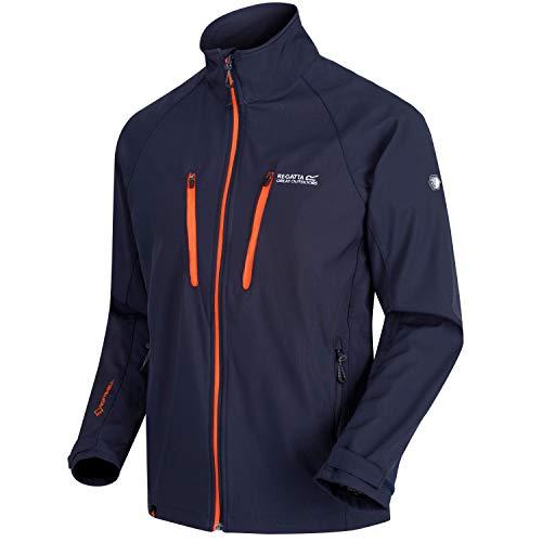 Regatta Herren Nielson V Water Repellent Wind Resistant Softshell Jacke, Navy, XXXXL