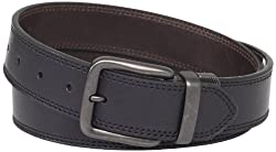 Levis Mens 40mm Reversible Leather Belt, Black/Brown, Medium