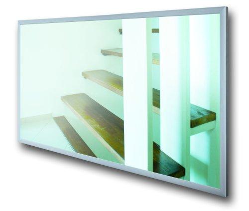 Infrarotheizung Spiegel mit Alurahmen, 600 Watt
