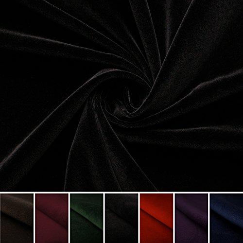 Juwel - Baumwollsamt - Baumwolle - Samt - Bekleidung - Heimtex - Deko - Meterware - Stoff (schwarz) (Baumwolle Samt Schwarze)