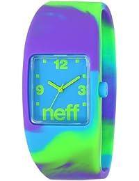 Neff - Reloj unisex de silicona azul