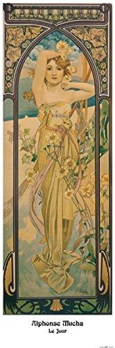 1art1 109758 Alphonse Mucha - Die Vier Tageszeiten, Der Tag, 1899 Poster Kunstdruck 120 x 40 cm