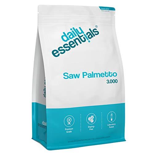 Saw Palmetto Extrakt - 500 Tabletten mit 3000 mg Sägepalme Pulver - Laborgeprüft, ohne Magnesiumstearat, hochdosiert, vegan und hergestellt in Deutschland