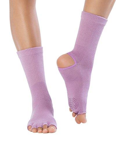 Knitido Yoga Flow | Zehensocken für Yoga, Pilates und Tanz mit offenen Zehen und ABS anti-rutsch Beschichtung, aus Baumwolle (83%), für Damen und Herren, jetzt in drei neuen Farben, Größe:39-42, Farbe:Waterlily