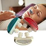 Jushi Anti Schnarchen Geräte Schnarchhilfen 2in1 Schnarchstopper und Atemluftreiniger Nase Vents Nasendilatator Stop Schnarchen Lösung für bequemes Schlafen (weiß)