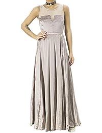 446a08c70ed3 MANGANO Abito Elegante Donna Lungo Invernale in Ciniglia Effetto Plissè con  Trasparenze Tinta Unita Made in