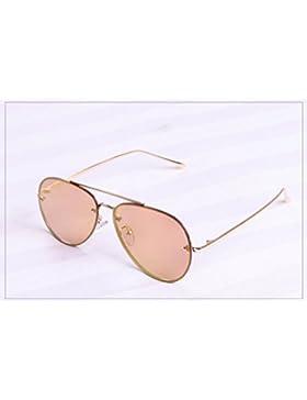 Gafas de Sol Al Aire Libre Suave Gafas de Sol Uv Ojos Ronda Cara Frameless Ranas Espejo,Mi,Convencional