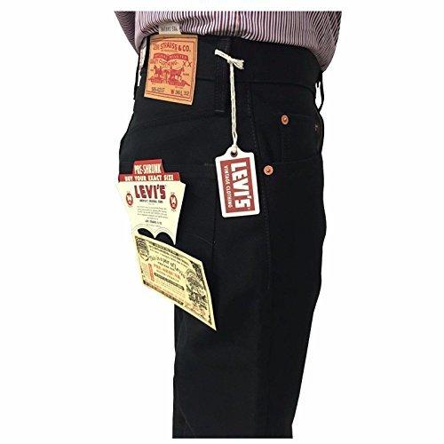 LEVI'S VINTAGE CLOTHING herrenjeans schwarz over 14 oz VORGESCHRUMPFT mod 505-0217 reißverschluss 100% baumwolle - Schwarz, 32W x 32L (Vintage Clothing Levi)