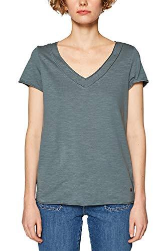 ESPRIT Damen 029EE1K047 T-Shirt, Grün (Dusty Green 3 337), Large (Herstellergröße: L)