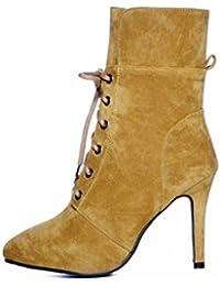 ad19dd00685220 AIKAKA Frauen Herbst und Winter Europa und Amerika Sexy warme High Heel  Schuhe