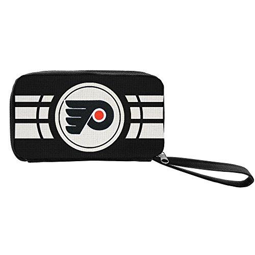 Littlearth NHL Ripple Zip Wallet, Damen, schwarz