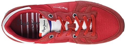 Pepe Jeans Tinker Bold, Sneakers Basses Homme Rouge (Francois Red)
