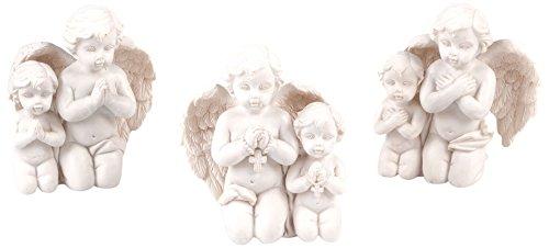 Pajoma 10537, angelo statuetta in preghiera, grande, in resina, altezza 8cm