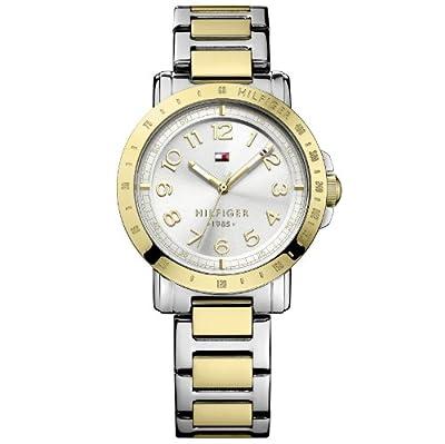 Tommy Hilfiger Liv - Reloj de cuarzo para mujer, con correa de acero inoxidable chapado, color multicolor