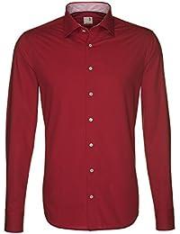 Seidensticker Herren Hemd Schwarze Rose Slim Fit rot mit Patch Gr. 38 - 46 / 229107.48