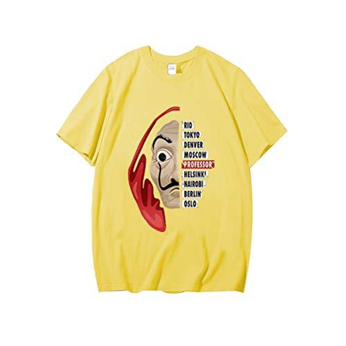 Belle Kostüm Stadt Party - La Casa De Papel Damen Kurzarm House of Paper Lustiges T-Shirt Tokyo Professore Netflix TV Serie