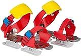 Nijdam Kinder Gleitschuh verstellbare, Rot/Blau/Gelb, 24-34, 1018876