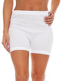 3 Pack escritos de las señoras con la pierna, modelo blanco (bombachas, calzones) (4209 HOA)