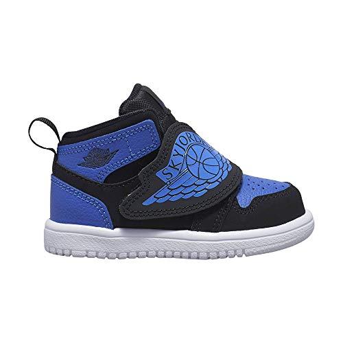 Nike Baby Jungen Sky Jordan 1 (TD) Sneaker, Mehrfarbig (Black/Hyper Royal-White 004), 27 EU