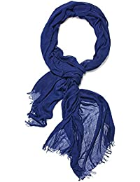Men Solid Color Scarf Wrap Stole Shawl Otton Scarves Versatile Mens Accessories (dark Blue)