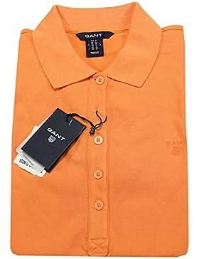 A0403 maglia donna GANT arancione polo t-shirt sleeveless woman
