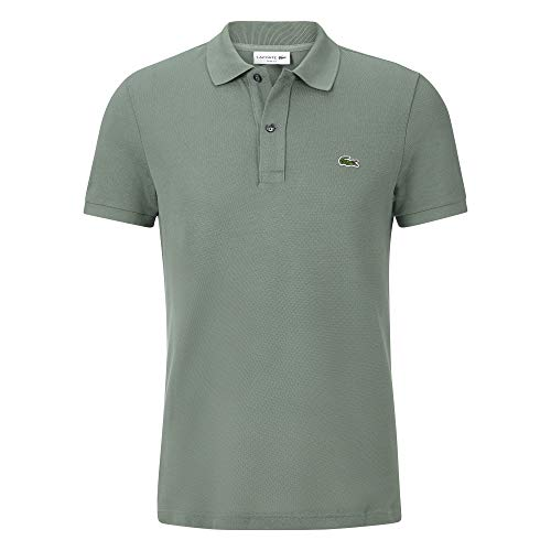 Lacoste PH4012 Herren Polo Shirt Kurzarm,Männer Polo-Hemd,2 Knopf,Slim Fit,Grassy(307),XX-Large (7)