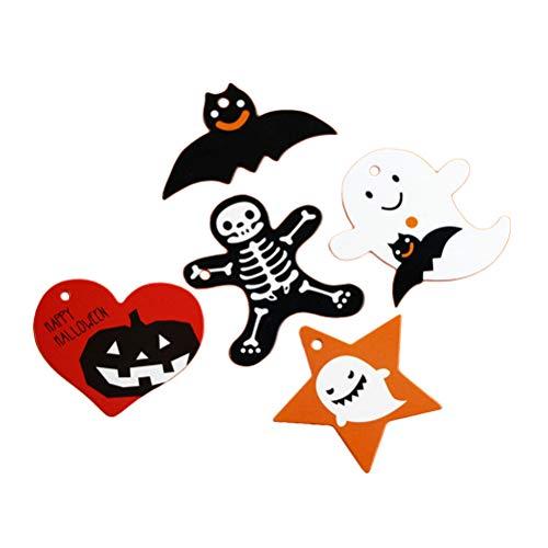 IY Hängende Dekoration Anhänger Charme Für Haustür Fenster Wand Party Star Bat Herz Skeleton Ghost , 250 STÜCKE ()