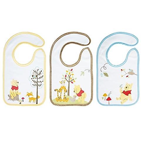 Babycalin Set de 3 Bavoirs Naissance Winnie 17 x 29