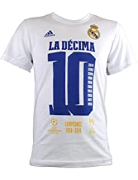 Adidas - REAL MADRID CAMISETA UCL DECIMA JUNIOR color: Blanco talla: 164