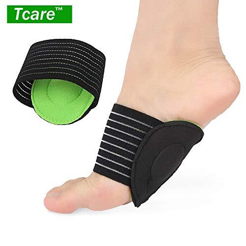 Tcare 1 Paar Orthopädische Fußgewölbebandage mit Komfort-Gel, Plantarfasziitis, Kompressionstherapie -