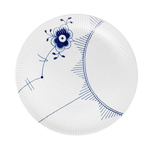 Blue Fluted Mega Blue Mega Plate Coupe 27cm