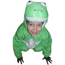 J01 Taglia 4-5A (104-110cm) Costume da Rana Ranocchio per bambini,