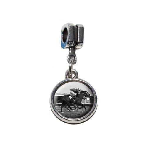 An der Strecke–Horse Racing Vintage italienische europäischen Euro-Stil Armband Charm Bead–für Pandora, Biagi, Troll,, Chamilla,, andere