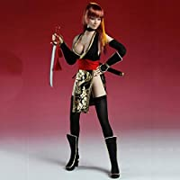 Clicked 1/6 Scale Female Body Seamless Fighting Girl Cosplay Suit Including Heads And Weapons for HT, VERYCOOL, TTL, Hottoy, Play, Phicen Action Figure Body,Black
