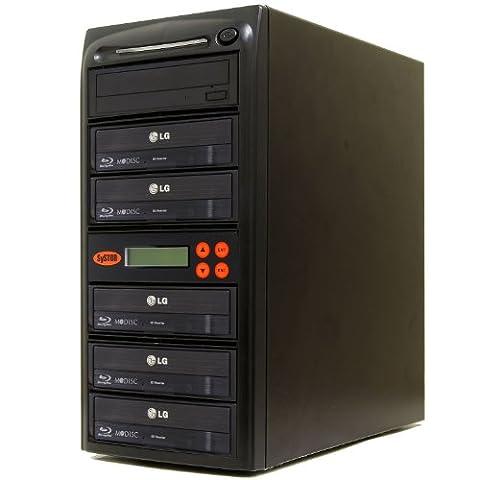 Systor 1–5Lecteur Graveur CD DVD Blu-Ray/kopierst ation/duplikator avec connexion USB (Disque dur 500Go)