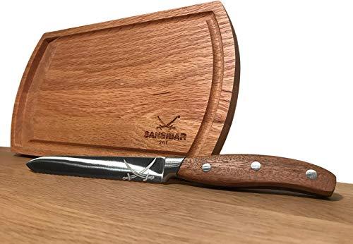 Rösle inkl Cocktailbrett inklusiv Universalmesser Sansibar 2-TLG, Holz, braun, 20 x 2.5 x 1.7 cm, 2-Einheiten - 2