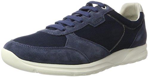 Geox Herrenschuhe U720HC U Damian Sportlicher Herren Sneaker, Marine, 45 EU (Leder-hi-low Rock)