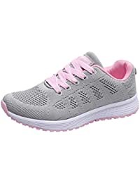 brand new 3e309 b35ed Logobeing Zapatillas Deportivas de Mujer - Zapatos Sneakers Zapatillas Mujer  Running Casual Yoga Calzado Deportivo de