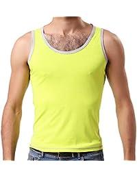 66739c58e04e3 kelaTSI Men Soft Cotton Vest Sports Fitness Athletic Slim Fit Tank Top  Sleeveless Shirt Youth Relaxed