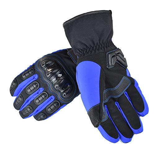 Guanti moto,guanti moto invernali per uomo e donna,guanti caldi termici esterni per moto mtb palestra bici ciclismo alpinismo scooter blu xl