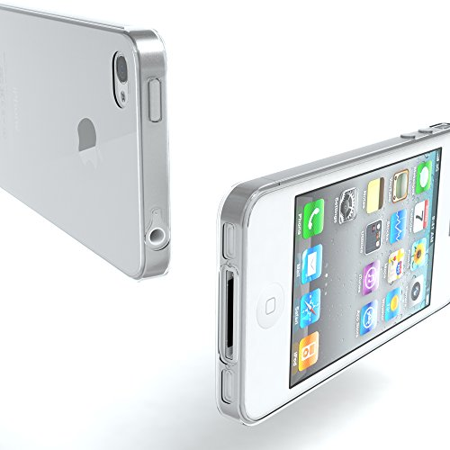 "EAZY CASE Handyhülle für Apple iPhone 4S, iPhone 4 Hülle - Premium Handy Schutzhülle Slimcover ""Clear"" - Transparentes Silikon Backcover in Klar / Durchsichtig Transparent"