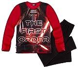 Star Wars Pyjama Lang Jungen Schlafanzug Kylo Ren (Rot-Schwarz, 116-122)