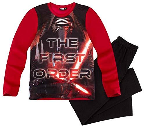 Star Wars Pyjama Lang Jungen Schlafanzug Kylo Ren (Rot-Schwarz, 116)