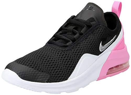 Nike Baby Mädchen Air Max Motion 2 (Gs) Gymnastikschuhe, Mehrfarbig (Black/Metallic Silver/Psychic Pink/White 001), 37.5 EU