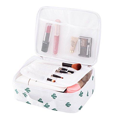 Yiuswoy Kosmetiktasche Reise Kulturbeutel Waschtasche Multifunktionale Kulturtasche mit Henkel für Damen, Herren und Kinder - Kaktus