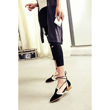 LvYuan sandali partito scarpe in pelle di club primavera estate&sera tacco basso casuale Green