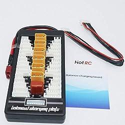 HONZIRY HotRc XT60 2S-6S Enchufe Lipo Batería Tarjeta de Carga paralela para RC IMAX B6 Cargador de vehículo Drone Balance Parte de Carga (Color: Azul)