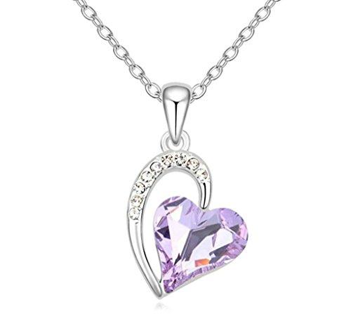 Daesar Schmuck Damenkette Vergoldet Herz Halsketten Zirkonia Anhänger Halskette für (Hello Billig Kitty Halskette)