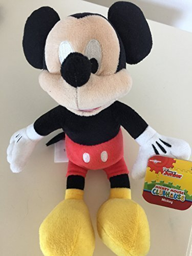 Just Play, Mickey Mouse Clubhouse, Mickey Mouse Bean Bag Plush, 9 Inches by Disney
